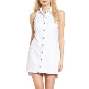 7 For All Mankind sleeveless white denim dress